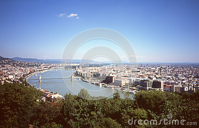 Panorama of Budapest.