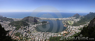 Panorama from Christ the Redeemer statue
