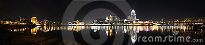 Panorama, Cincinnati Skyline, editorial Editorial Stock Photo