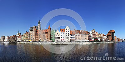 Panorama of City of Gdansk (Danzig), Poland