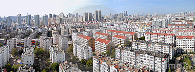 Panorama of City neighborhoods