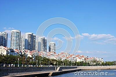 Panorama of  City in qingdao