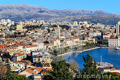 Panorama of city Split in Dalmatia