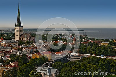 Panorama of city of Tallinn