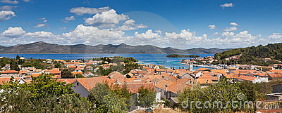 Panorama of city of Veli Iz, Croatia