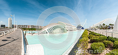 Panorama of cityscape in Valencia, Spain, Europe. Editorial Stock Photo