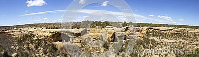 Panorama of Cliff Dwellings in Mesa Verde National