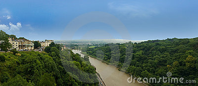 Panorama from clifton suspension bridge in bristol