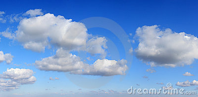 Panorama of clouds and  sky