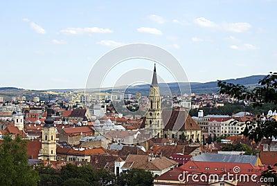 Panorama of Cluj Napoca,Romania