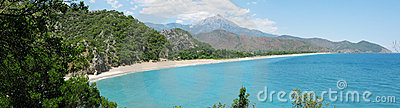 Panorama of coast olympos turkey