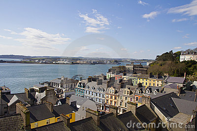 Panorama of Cobh in Ireland