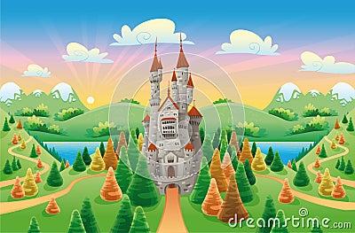 Panorama con il castello medioevale.
