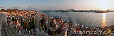 Panorama of Croatian city Sibenik
