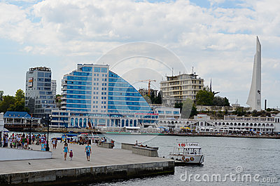 Panorama of Crystal cape, Sevastopol Editorial Stock Image