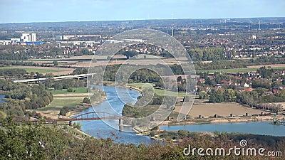 Panorama da cidade Minden germany cityscape vídeos de arquivo