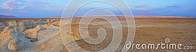 Panorama de désert de Yehuda, Israël