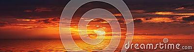 Panorama de la salida del sol