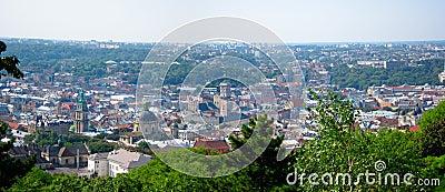 Panorama de Lviv, Ukraine