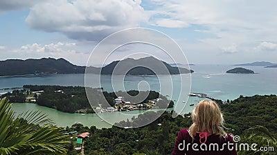 Panorama de Praslin Seychelles filme