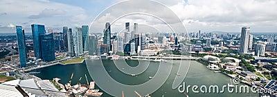 Panorama de Singapur Foto editorial