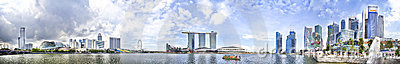 Panorama de Singapura Imagem de Stock Editorial