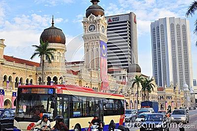 Panorama del edificio de Abdul Samad del sultán Imagen de archivo editorial