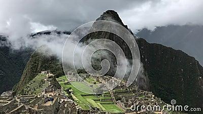 Panorama del picchu de Machu