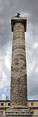 Panorama della colonna di Traiano