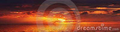 Panorama di alba