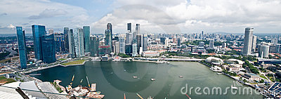 Panorama di Singapore Fotografia Editoriale