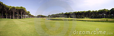 Panorama do clube de golfe