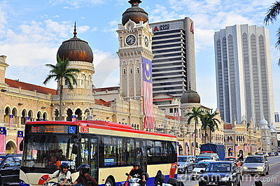 Panorama do edifício de Abdul Samad da sultão Imagem de Stock Editorial
