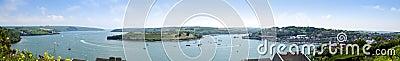 Panorama do porto de Kinsale, cortiça