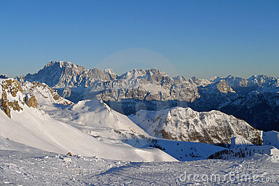 Panorama of Dolomiti Alps (Italy)