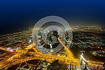 Panorama of down town Duba