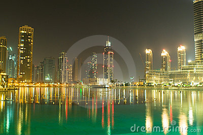 Panorama of down town Dubai