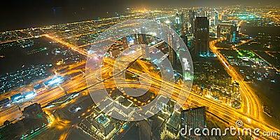 Panorama of down town Dubai  - UAE