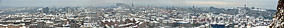 Panorama of Edinburgh, Scotland, in snow