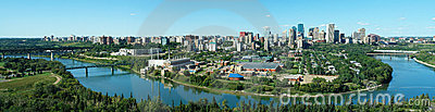 Panorama of edmonton downtown