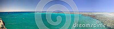 Panorama of the egiptian reef