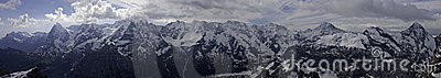Panorama of Eiger, Moench, Jungfrau