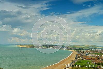 Panorama of english coast by Seaford