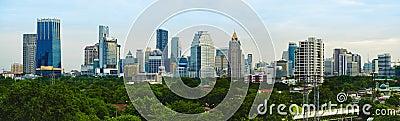 Panorama evening metropolis - Bangkok
