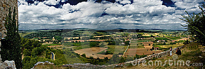 Panorama French landscape