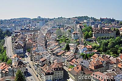 Panorama of Fribourg