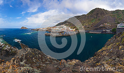 Panorama of Garachico in Tenerife island - Canary