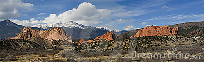 Panorama of the Garden of the Gods Park