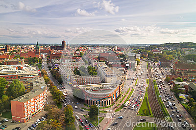 Panorama of Gdansk city centre in summer time Editorial Stock Photo