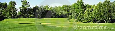 Panorama of golf field
